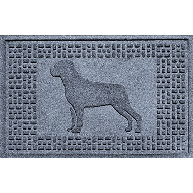 Bungalow Flooring Aqua Shield Rottweiler Doormat; Bluestone