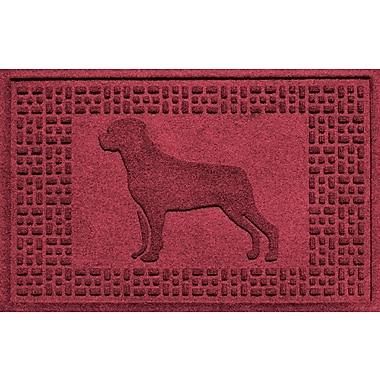 Bungalow Flooring Aqua Shield Rottweiler Doormat; Red/Black