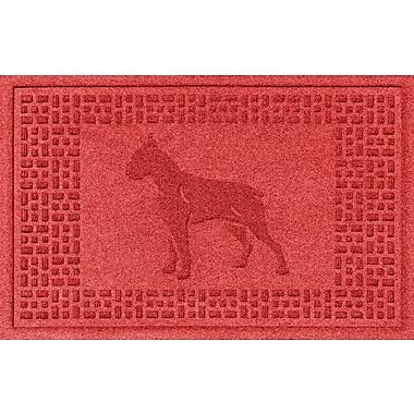 Bungalow Flooring Aqua Shield Boxer Doormat; Solid Red