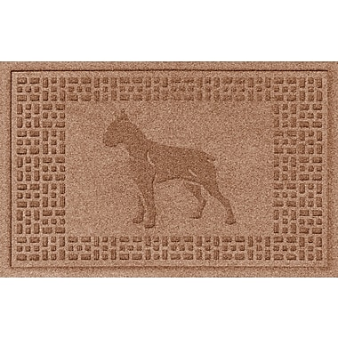 Bungalow Flooring Aqua Shield Boxer Doormat; Medium Brown
