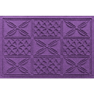 Bungalow Flooring Aqua Shield Patchwork Grid Doormat; Purple