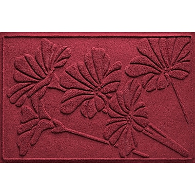 Bungalow Flooring Aqua Shield Spring Flowers Doormat; Red/Black