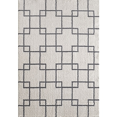 Dynamic Rugs Silky White Area Rug; 6'7'' x 9'6''