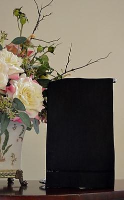 Fino Lino Black Hemstitch Border Guest Towel