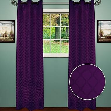 Sweet Home Collection Lattice Curtain Panel (Set of 2); Purple