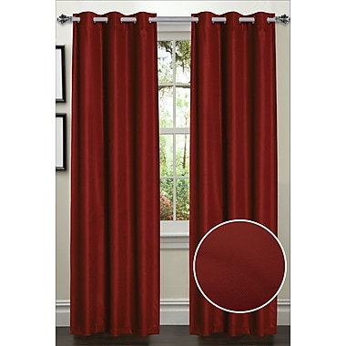 Sweet Home Collection Dot Thermal Blackout Curtain Panels (Set of 2); Rust
