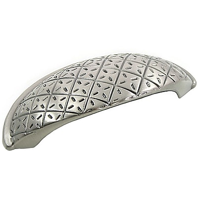 MNG Hardware Pillow Cup/Bin Pull; Satin Nickel WYF078277980903