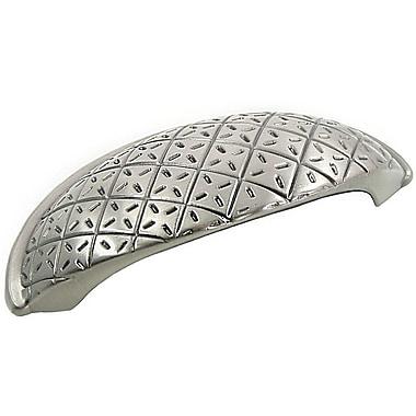 MNG Hardware Pillow Cup/Bin Pull; Satin Nickel