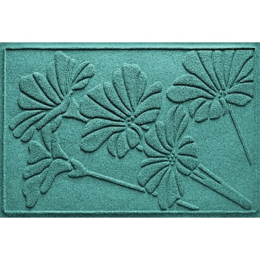 Bungalow Flooring Aqua Shield Spring Flowers Doormat; Aquamarine