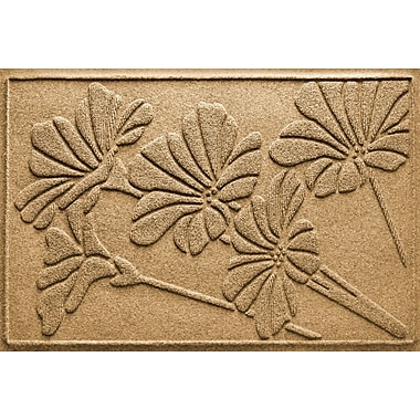 Bungalow Flooring Aqua Shield Spring Flowers Doormat; Gold