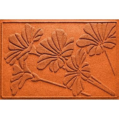 Bungalow Flooring Aqua Shield Spring Flowers Doormat; Orange