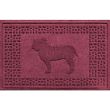 Bungalow Flooring Aqua Shield Bulldog Doormat; Bordeaux