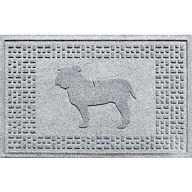 Bungalow Flooring Aqua Shield Bulldog Doormat; White