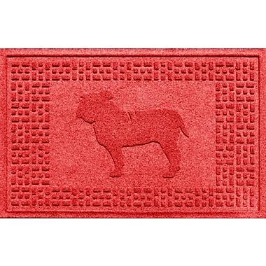 Bungalow Flooring Aqua Shield Bulldog Doormat; Solid Red