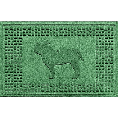Bungalow Flooring Aqua Shield Bulldog Doormat; Light Green
