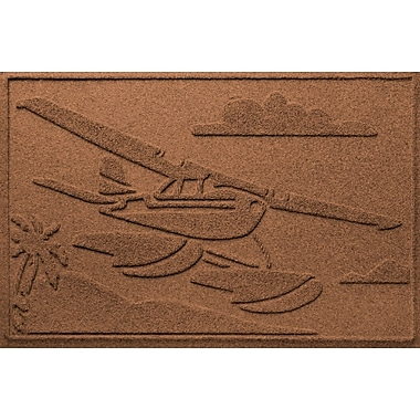 Bungalow Flooring Aqua Shield Sea Plane Doormat; Dark Brown