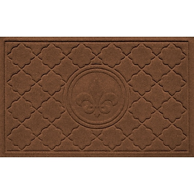 Bungalow Flooring Aqua Shield Bombay Fleur de Lis Doormat; Dark Brown