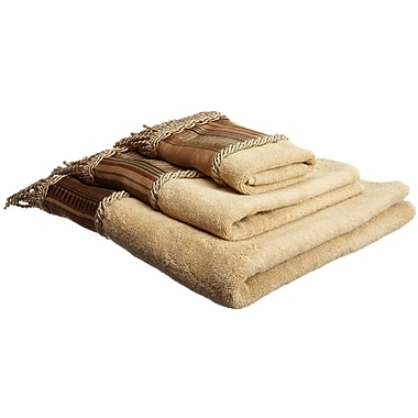 Sweet Home Collection Contempo Spice Bath 3 Piece Towel Set