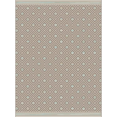 Dynamic Rugs Piazza Brown Indoor/Outdoor Area Rug; Rectangle 3'11'' x 5'7''