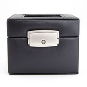 Royce Leather Luxury Two Slot Watch Box Display Case in Genuine Leather