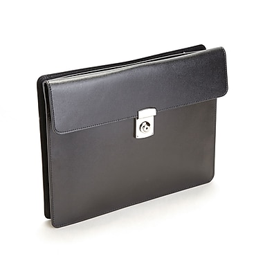 Royce Leather RFID Blocking Executive Underarm Portfolio Brief in Saffiano Leather, Debossing, 3 Initials