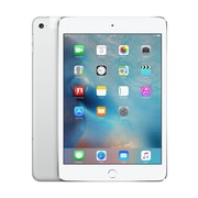 "Apple iPad mini 4, 7.9"", A8 Chip, Wi-Fi + Cell, 128GB, Silver"