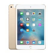 Apple - iPad mini 4, 7,9 po, puce A8, Wi-Fi + Cellular, 128 Go, or