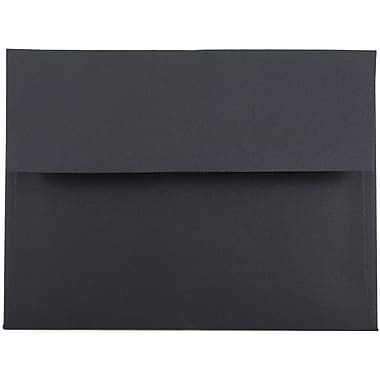 JAM Paper® A6 Invitation Envelopes, 4.75 x 6.5, Black, 50/pack (22115363I)