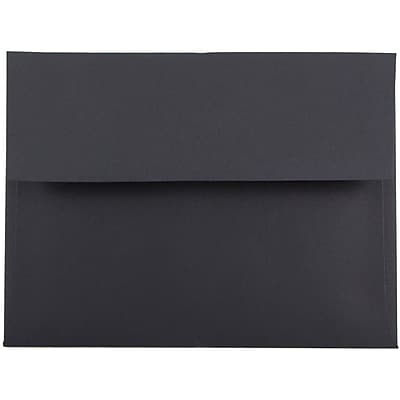 JAM Paper® A6 Invitation Envelopes, 4.75 x 6.5, Black, 250/box (22115363H)