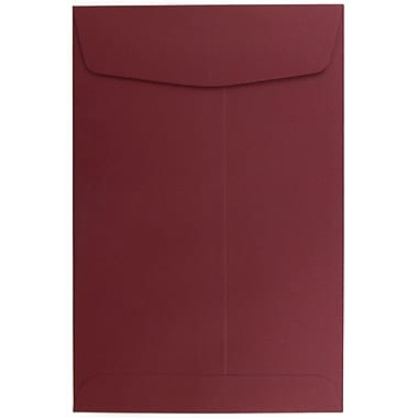JAM Paper® 6 x 9 Open End Envelopes, Dark Red, 10/pack (31287522B)