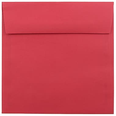 JAM Paper® 6.5 x 6.5 Square Envelopes, Brite Hue Red Recycled, 1000/carton (02792283C)