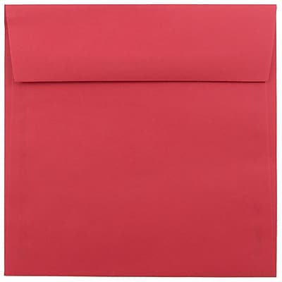 JAM Paper® 6.5 x 6.5 Square Envelopes, Brite Hue Red Recycled, 25/pack (2792283)