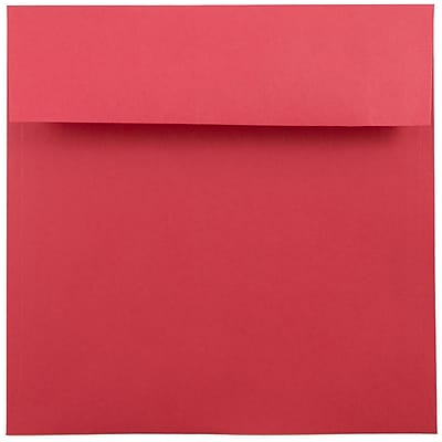 JAM Paper® 7.5 x 7.5 Square Envelopes, Brite Hue Red Recycled, 250/box (2792291H)