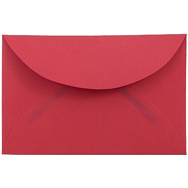 JAM Paper® 3drug Mini Small Envelopes, 2 5/16 x 3 5/8, Brite Hue Red Recycled, 25/pack (155031)