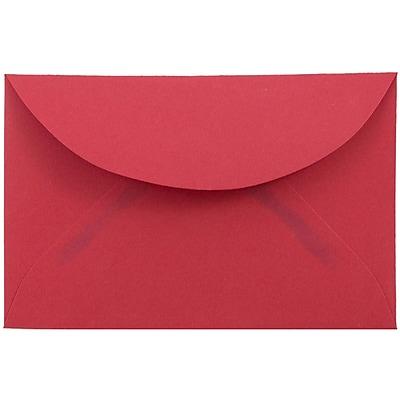 JAM Paper® 3drug Envelopes, 2 5/16 x 3 5/8, Red Recycled, 50/pack (155031i)