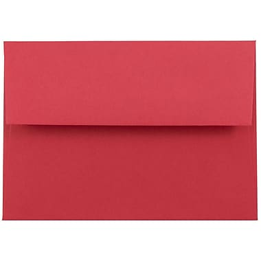 JAM Paper® 4bar A1 Envelopes, 3 5/8 x 5 1/8, Brite Hue Red Recycled, 50/pack (900927182I)