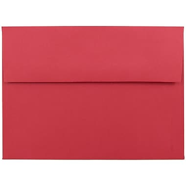 JAM Paper® A7 Invitation Envelopes, 5.25 x 7.25 Brite Hue Red Recycled, 1000/carton (15945B)