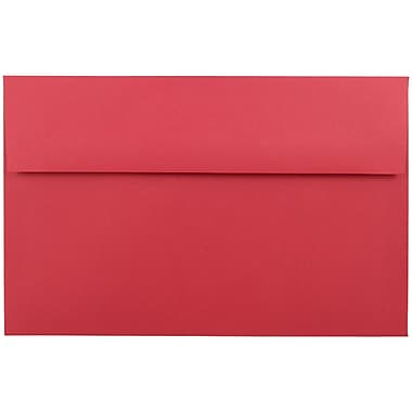JAM Paper® A10 Invitation Envelopes, 6 x 9.5, Brite Hue Red Recycled, 1000/carton (96078B)
