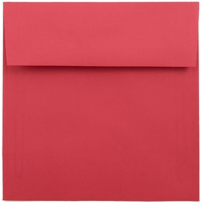 JAM Paper® 6 x 6 Square Envelopes, Brite Hue Red Recycled, 250/box (2792270H)
