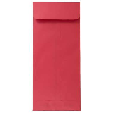 JAM Paper® #12 Policy Envelopes, 4.75 x 11, Brite Hue Red Recycled, 1000/carton (900907737B)