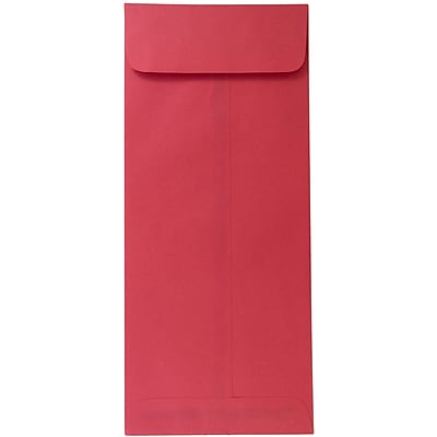 JAM Paper® #14 Policy Envelopes, 5 x 11.5, Brite Hue Red Recycled, 50/pack (900905211I)