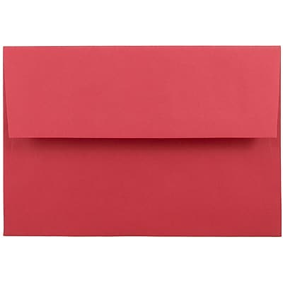JAM Paper® A8 Invitation Envelopes, 5.5 x 8.125, Brite Hue Red Recycled, 250/box (27799H)