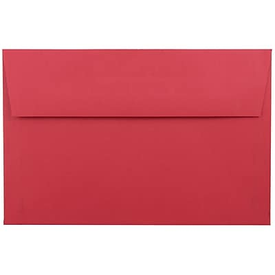 JAM Paper® A9 Invitation Envelopes, 5.75 x 8.75, Brite Hue Red Recycled, 25/pack (14257)