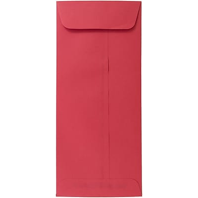 JAM Paper® #10 Policy Envelopes, 4 1/8 x 9 1/2, Brite Hue Red Recycled, 25/pack (25048)
