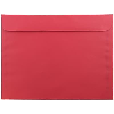 JAM Paper® 9 x 12 Booklet Envelopes, Brite Hue Red Recycled, 25/pack (17253)