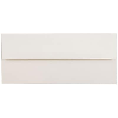 JAM Paper® #10 Business Envelopes, 4 1/8 x 9 1/2, Talc White Recycled, 50/pack (900678810I)