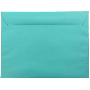 JAM Paper® 9 x 12 Booklet Envelopes, Brite Hue Sea Blue Recycled, 25/pack (5156773)