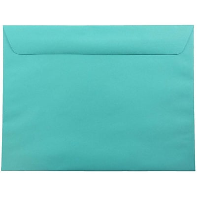 JAM Paper® 9 x 12 Booklet Envelopes, Sea Blue Recycled, 250/pack (5156773h)