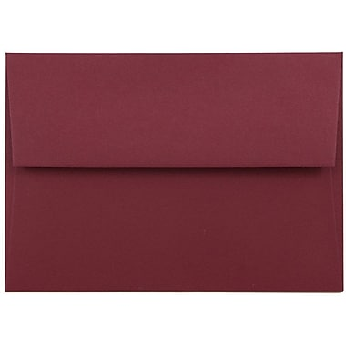 JAM Paper® 4bar A1 Envelopes, 3 5/8 x 5 1/8, Dark Red, 1000/carton (5157437B)