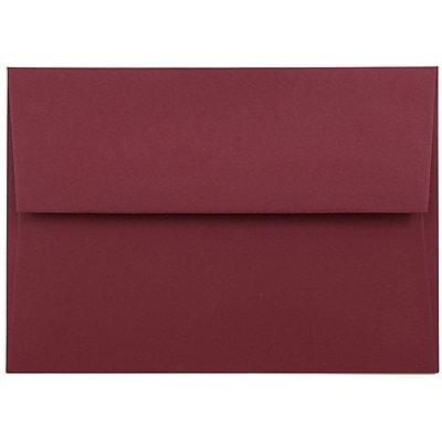 JAM Paper® 4bar A1 Envelopes, 3 5/8 x 5 1/8, Dark Red, 25/pack (5157437)